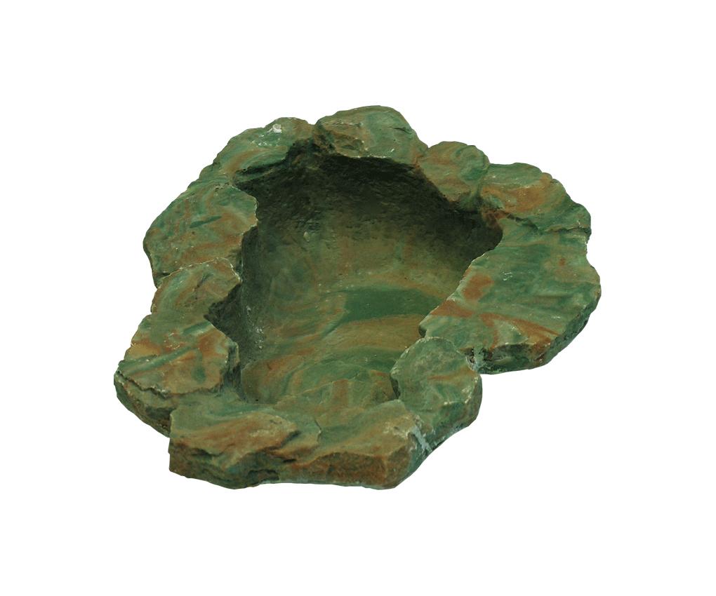 Водоем с террасой д/террар., 24х19 см, зеленый от Ravta