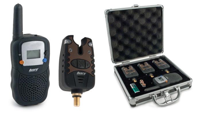 Набор сигнализатор клёва Akara Carp Pro 3 шт. + рация от Ravta