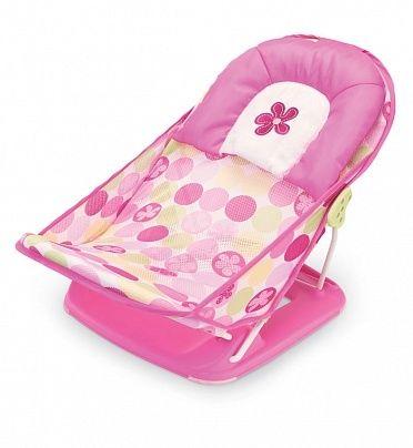 Лежак для купания в ванну Deluxe Baby Bather (цвет - Розовый), Summer InfantГигиена и уход за малышом<br><br><br>Артикул: 18515<br>Бренд: Summer Infant<br>Страна-изготовитель: None<br>Родина бренда: США<br>Категории: Кремы и присыпки<br>Цвет / Размер / Модель: Розовый<br>Тип товара: Лежак
