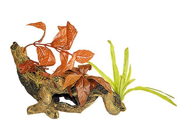 "Декор ""Коряга с растениями"", 22.5х17.5 см, полирез. от Ravta"