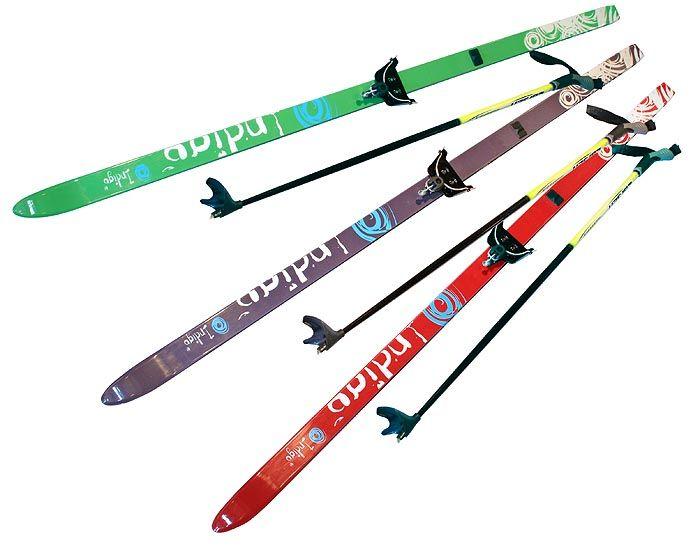 Лыжный комплект п/пл INDIGO CLASSIC 1,4м лыжи,75 кр, палки, стяжки 75 кр., п, цв. Фиолетовый от Ravta