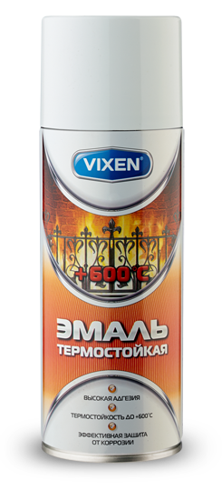 Эмаль термостойкая Astrohim VX-53001 белая (аэрозоль) (520 мл) от Ravta
