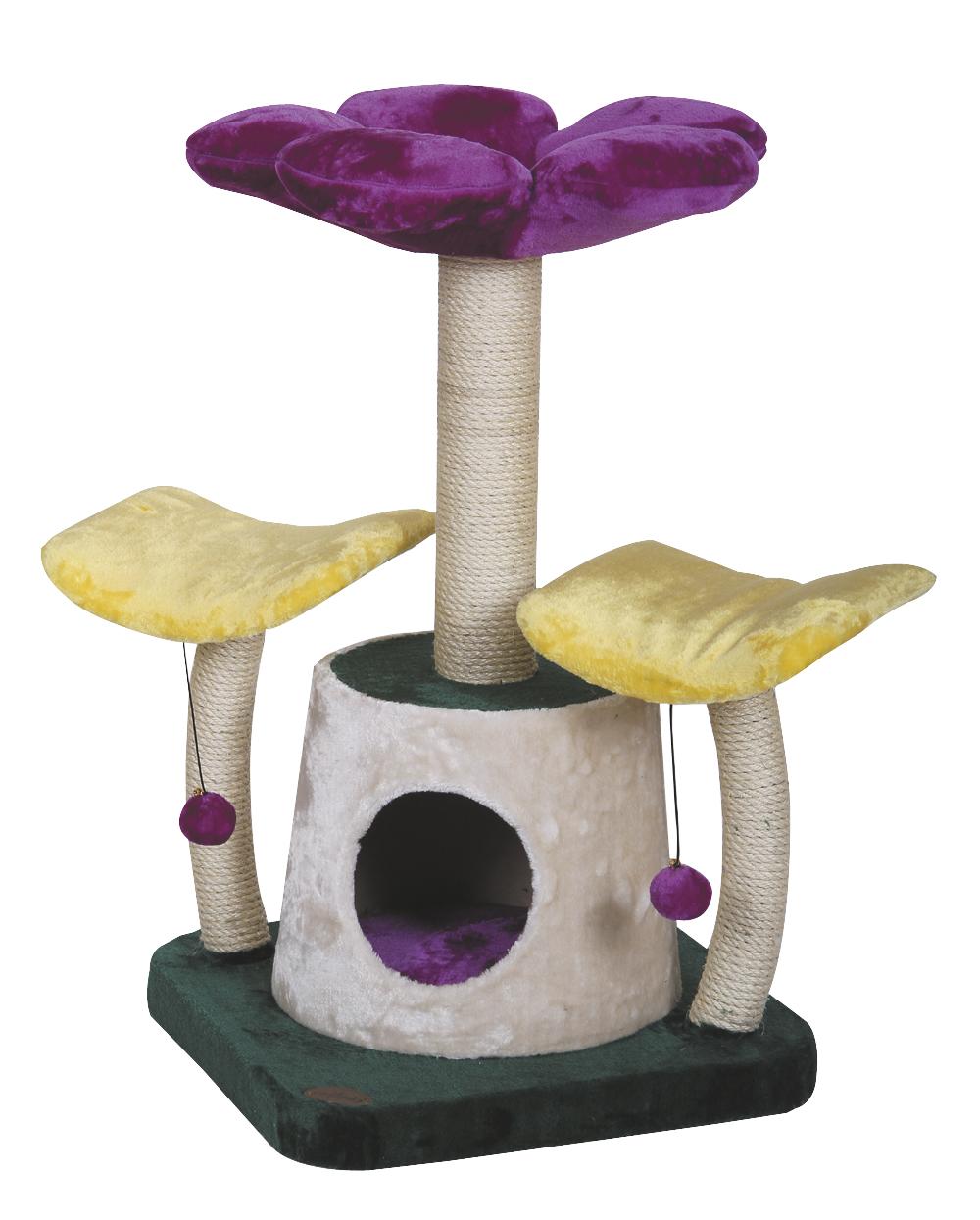 croci Когтеточка-дом Цветы, 50*47*10 см C6020326