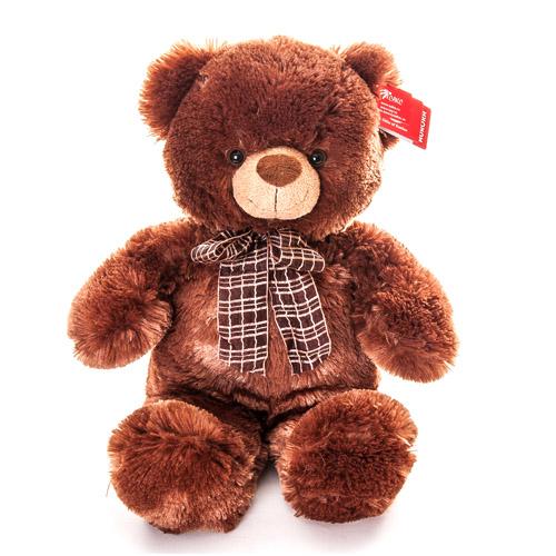 Мягкая игрушка Медведь коричневый с бантом 45 см, Aurora 21-237Мягкие игрушки<br><br><br>Артикул: 21-237<br>Бренд: Aurora
