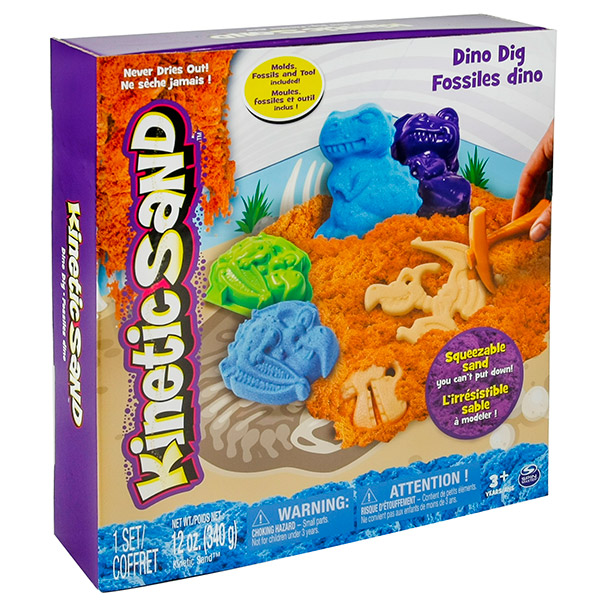 Песок для лепки Kinetic Sand. Игровой набор c формочками, 340 грамм, Spin Master 71415Масса для лепки, кинетический песок<br><br><br>Артикул: 71415<br>Бренд: Spin Master