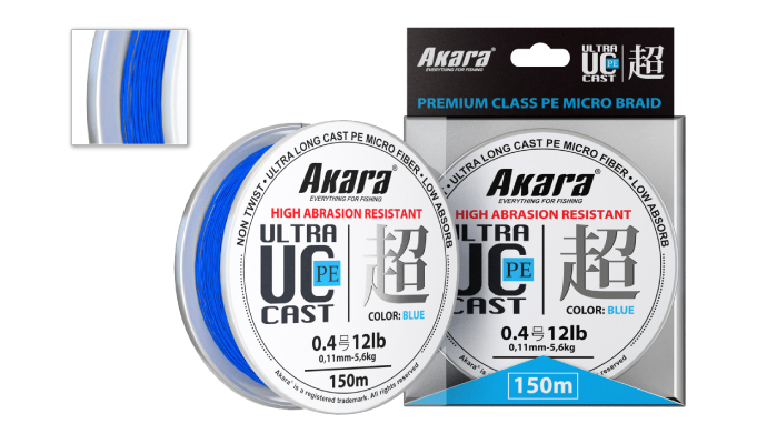 Шнур Akara Ultra Cast PE Micro Braid Blue 150 м 0,13 от Ravta