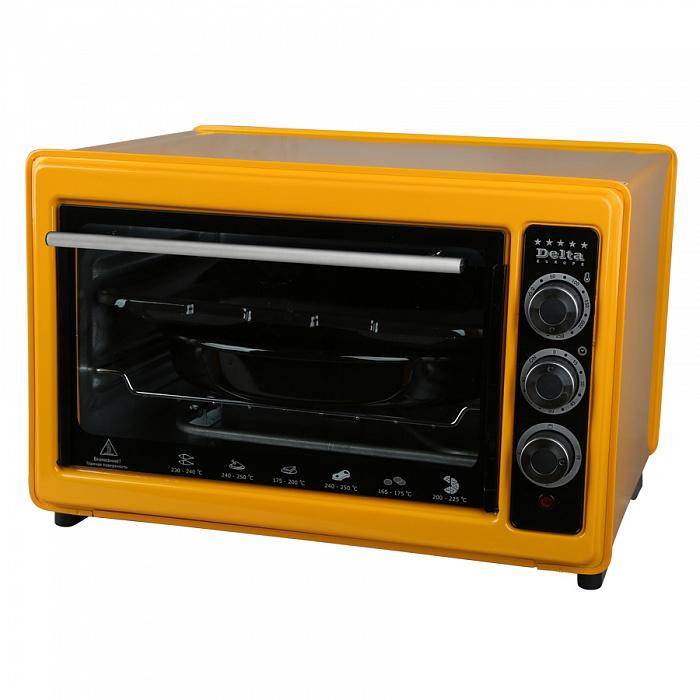 Мини-печь DELTA D-023 желт (рестайлинг) с тэном повыш. мощности,1,3 кВт,37л с термостатом от Ravta