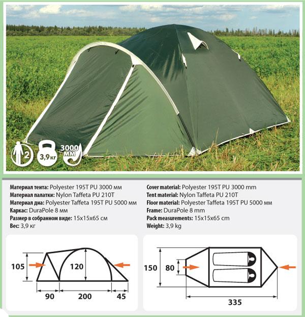 Палатка Comfortika Pamir 2 от Ravta
