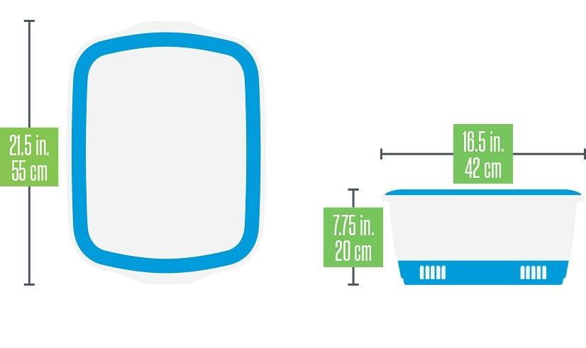 canada litter Canada Litter Кошачий туалет с системой защиты от запаха CatEco - синий 0,8кг 20420
