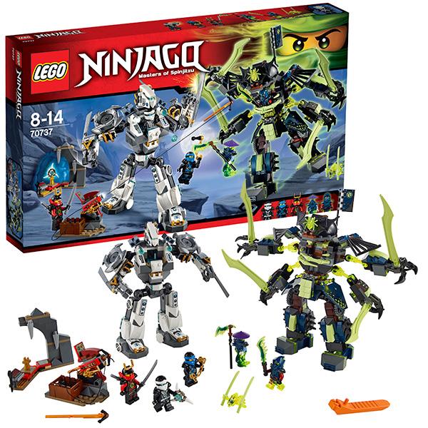 Конструктор Лего Ниндзяго (lego Ninjago) Битва механических роботов, Lego 70737LEGO Конструкторы<br><br><br>Артикул: 70737<br>Бренд: Lego