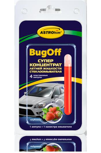 Стеклоомывающая летняя жидкость «BUGoff» Astrohim AC-4119 концентрат (лето), клубника, блистер от Ravta
