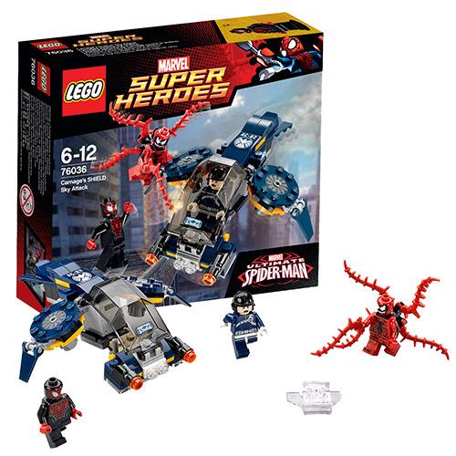 Конструктор Супер Герои Воздушная атака Карнажа, Lego 76036LEGO Конструкторы<br><br><br>Артикул: 76036<br>Бренд: Lego