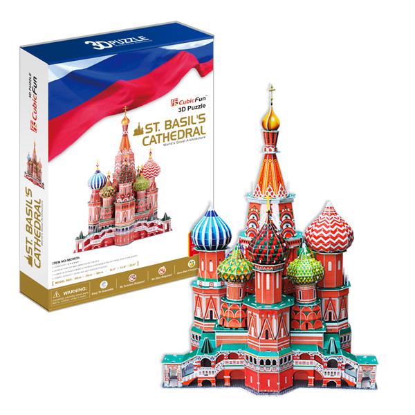 Объемный 3d Пазл Собор Василия Блаженного (Россия), CubicFun MC093h от Ravta