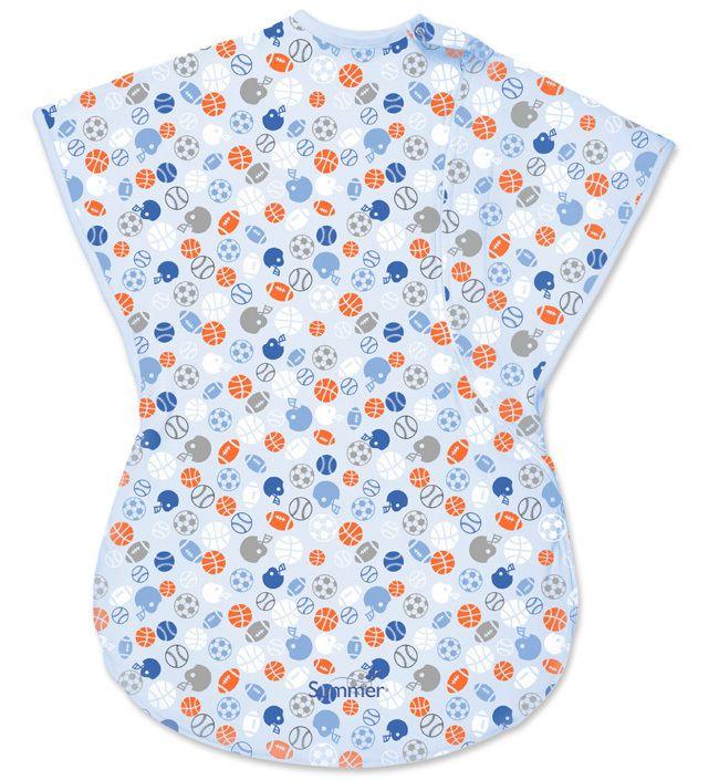 Спальный конверт-мешок ComfortMe Wearable (цвет - Голубой с белыми полосками (размер L)), Summer Infant от Ravta