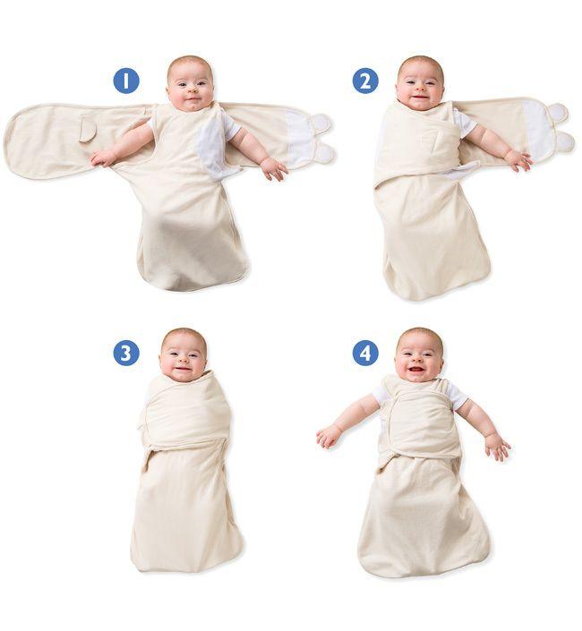 Конверт для пеленания на липучке SwaddleMe WrapSack (цвет - Роботы (размер S)), Summer Infant от Ravta