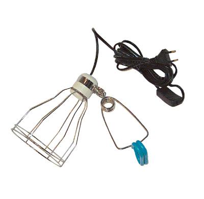 Светильник д/террар. с сеткой на зажиме, до 600 Вт от Ravta