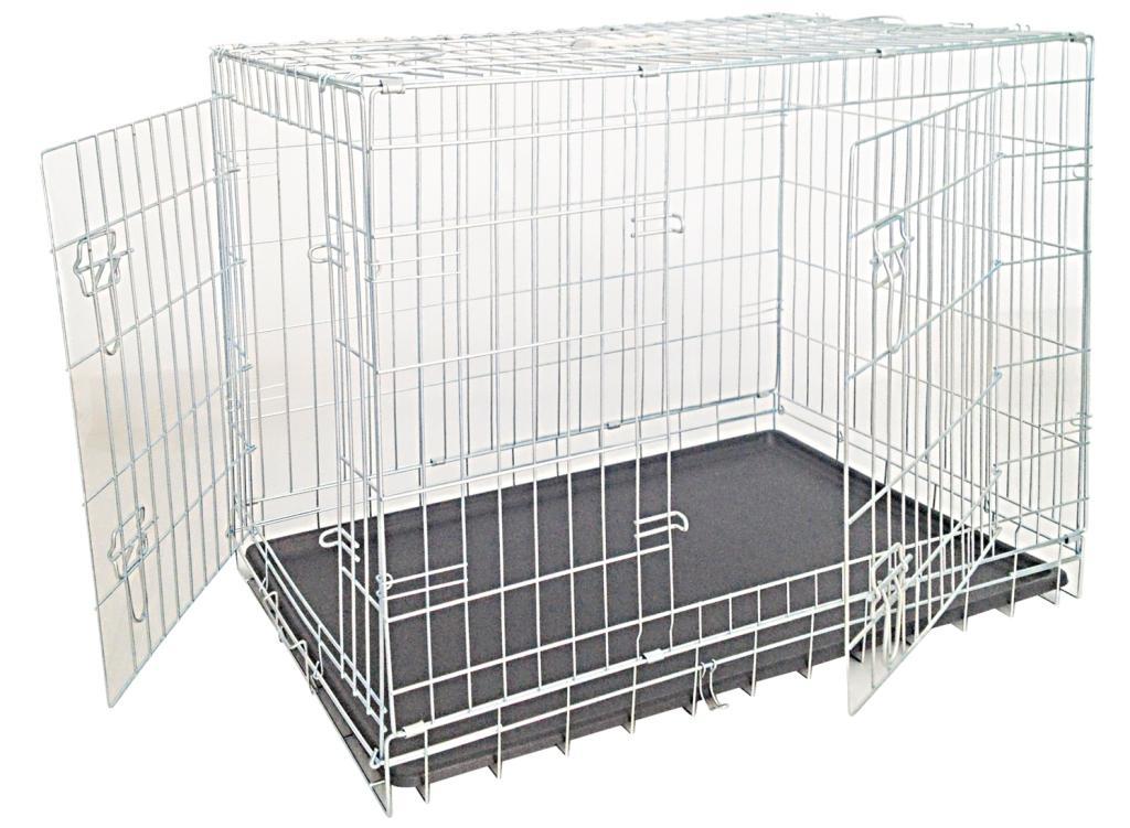 Клетка для собак складная, 2 входа, 78*55*62, цинк от Ravta