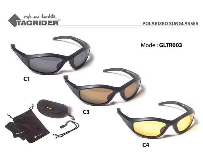 Очки поляриз.Tagrider в чехле GLTR 003 C1 GRОчки поляризационные<br><br><br>Артикул: GLTR003-C1<br>Бренд: Tagrider<br>Количество штук в упаковке: 1<br>Продажа товара кратно упаковке: Да