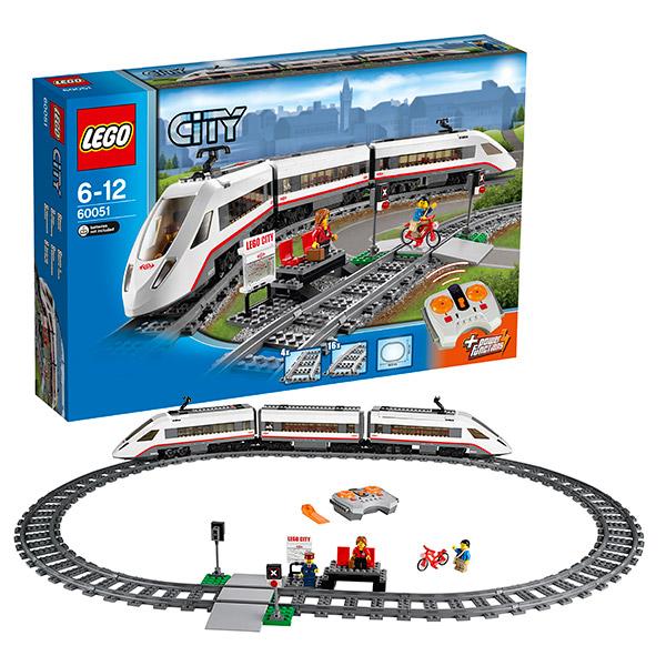 Конструктор Лего Сити (Lego City) Скоростной пассажирский поезд, Lego 60051LEGO Конструкторы<br><br><br>Артикул: 60051<br>Бренд: Lego
