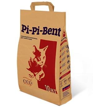 pi-pi-bent Комкующийся наполнитель Pi-Pi-Bent Классик (пакет), 10кг 26148