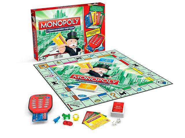Игра настольная Монополия С Банковскими Карточками Обновленная, Hasbro A7444Настольные и напольные игры<br><br><br>Артикул: A7444<br>Бренд: Monopoly<br>Категории: Монополия