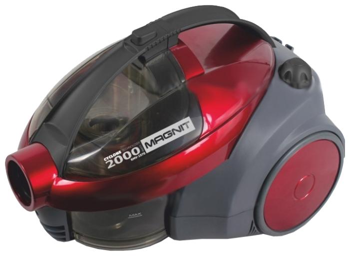Пылесос Magnit RMV-1970Пылесосы<br><br><br>Артикул: RMV-1970<br>Бренд: Magnit<br>Потребляемая мощность (Вт): 2000<br>Регулятор мощности: на корпусе<br>Тип пылесборника: циклонный<br>Гарантия производителя: да<br>Мощность всасывания (Вт): 250<br>Цвет: красный<br>Емкость пылесборника (л): 2<br>Трубка: телескопическая<br>Материал трубки: металл<br>Насадки: универсальная, щелевая