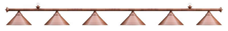 Лампа на шесть плафонов Elegance D35 (бронзовая)Аксессуары для бильярда<br><br><br>Артикул: 75.028.06.0<br>Бренд: Classic