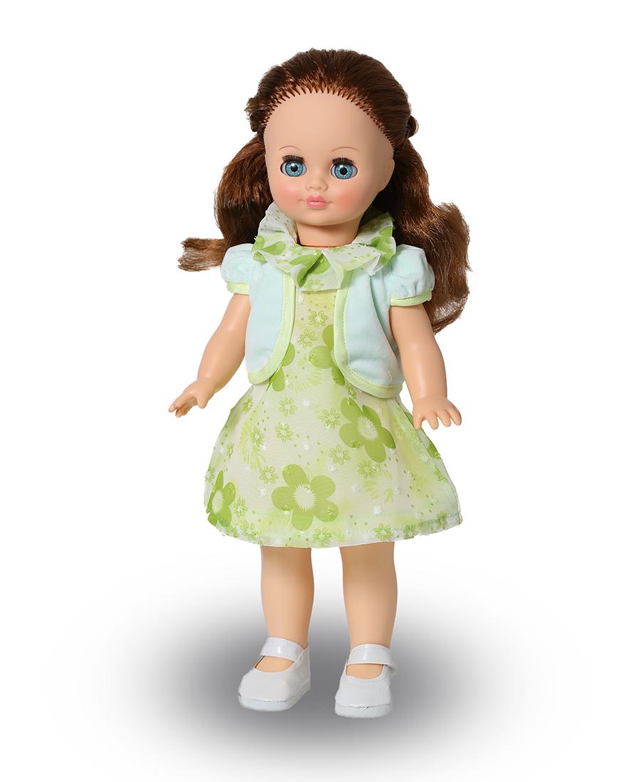 Кукла в зеленом платье картинка для детей