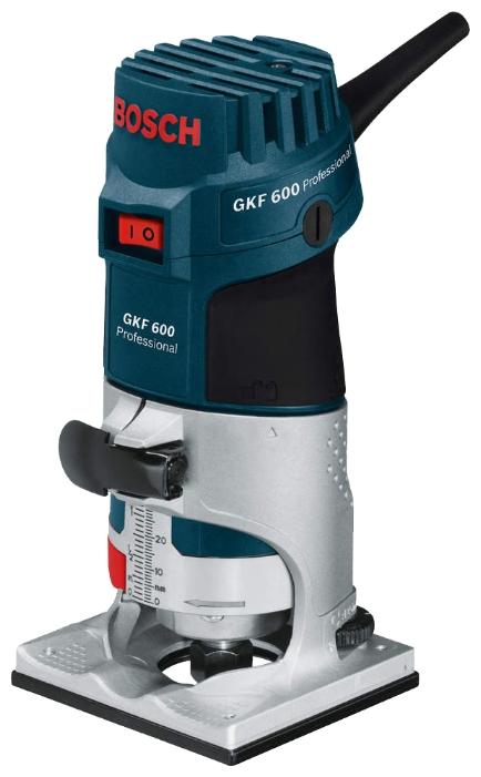 Фрезер BOSCH GKF 600, кромочный 600Вт 33000об/мин патрон6-8мм 1.5 кг (060160A101) 060160A101 от Ravta