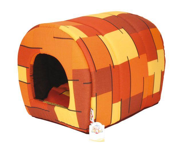croci Домик-туннель Квадрат, 34*38*53 см, оранж. C2W00192