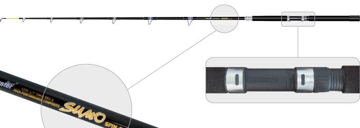 Спиннинг штек. ст/пласт. 2 колена Surf Master 1370 Sumo (100-500) 1,65 м от Ravta