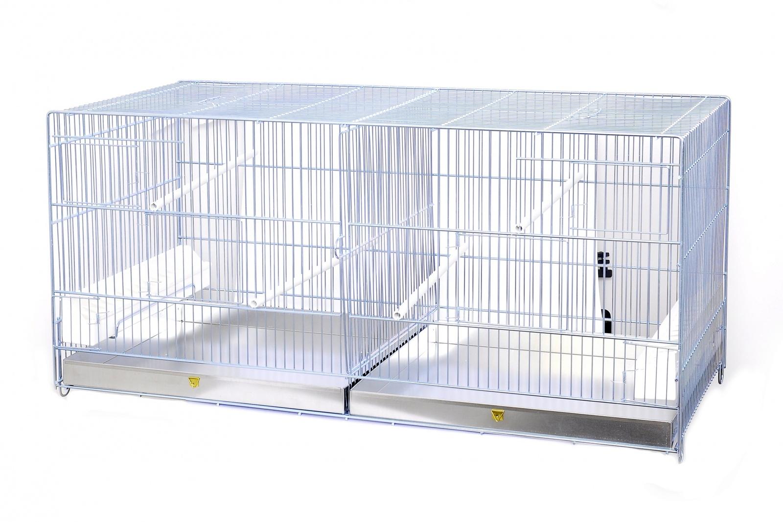 benelux Benelux Клетка для птиц двойная 90*30*45 см (Metal birdcage 2 parts 90x30x45 cm) 1560057 51073
