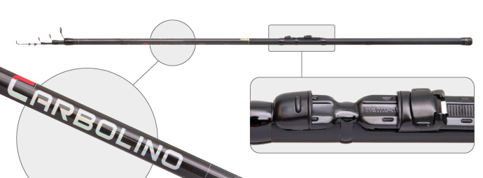 Удилище телеск. уг/пласт. д/с Surf Master 1560 Carbolino IM7 6,0 м от Ravta