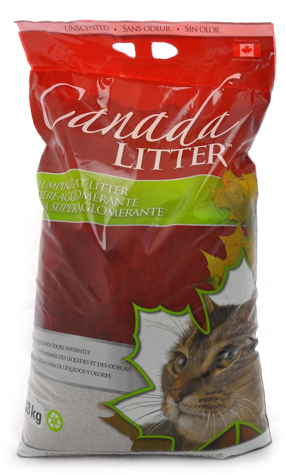 """Canada Litter Канадский комкующийся наполнитель """"Запах на Замке"""", без запаха 18кг от Ravta"""
