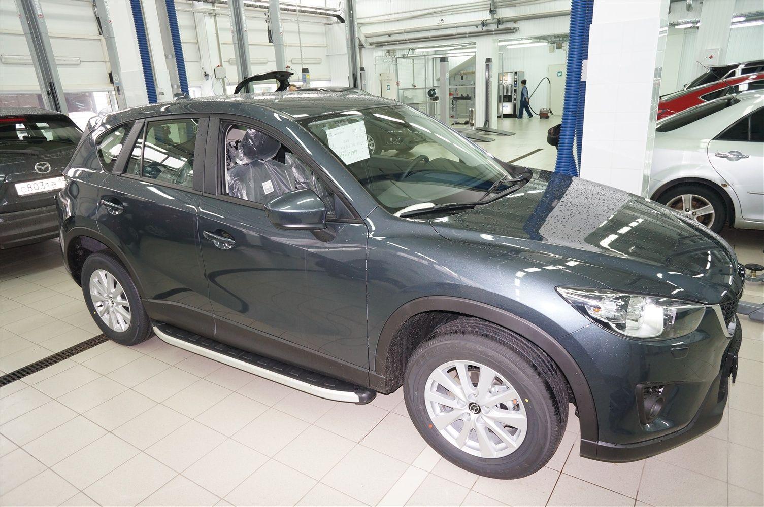 Пороги CAN OTOMOTIV алюминиевые (Alyans) Mazda (Мазда) CX5 (2012-) от Ravta