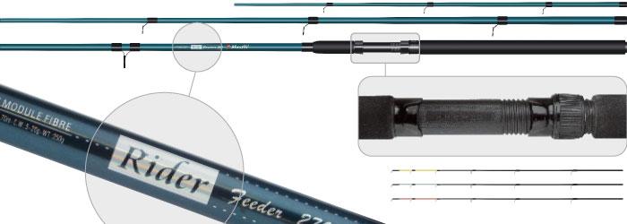 Фидер штек. ст/пласт. 3 колена Surf Master 1827 Rider Feeder (20-40-60) 3,3 м в тубусе от Ravta