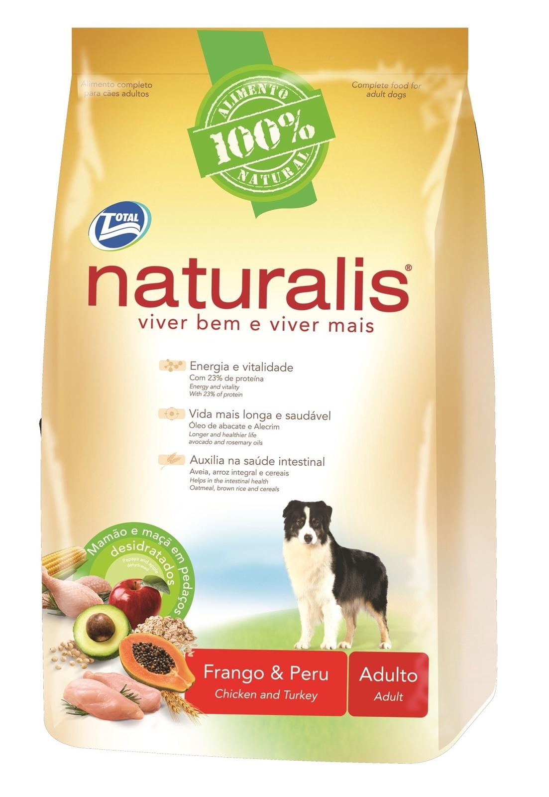 Naturalis Total Alimentos Для взрослых собак с курицей, индейкой, коричневым рисом, папайей и яблоком ERS110182 15кгПовседневные корма<br><br><br>Артикул: 10393<br>Бренд: Naturalis Total Alimentos<br>Вид: Сухие<br>Вес брутто (кг): 15<br>Для кого: Собаки