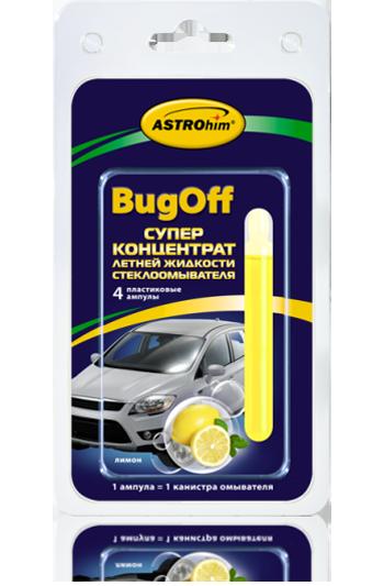 Стеклоомывающая летняя жидкость «BUGoff» Astrohim AC-4115 концентрат (лето), лимон, блистер от Ravta