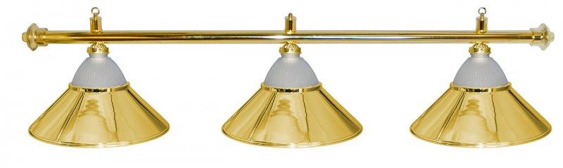 Лампа на три плафона Jazz D38 (золотистая)Аксессуары для бильярда<br><br><br>Артикул: 75.025.03.0<br>Бренд: Classic