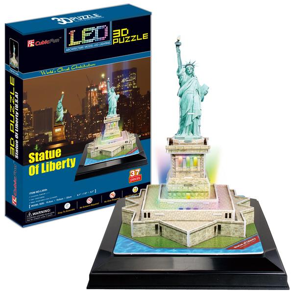 Объемный 3d Пазл Статуя Свободы с иллюминацией (США), CubicFun L505h от Ravta