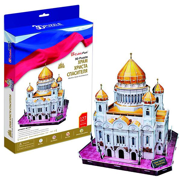 Объемный 3d Пазл Храм Христа Спасителя, CubicFun MC125h от Ravta
