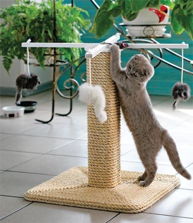 Как сделать для кота когтеточку