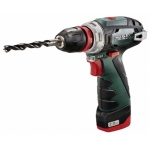 Акк. шуруповерт METABO Power Maxx BS Quick Basic, 10.8В 2*2Ач Li-ion 34Нм/2полож 0-360/0-1400об/мин БЗП10мм 0.9кг кейс 600156500