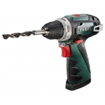Акк. шуруповерт METABO Power Maxx BS, 10.8В 2*2Ач Li-ion 34Нм/2полож 0-360/0-1400об/мин БЗП10мм 0.8кг кейс (600080500) 600080500