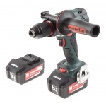 Акк. шуруповерт METABO BS 18 LTX Impuls, 18В 2*5.2Ач Li-ion 110Нм 0-500/0-1700об/мин БЗП13мм 2кг кейс пласт. рукоятка (206191650) 602191650