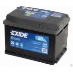Аккумулятор EXIDE Excell  EB602 60Ah 540A