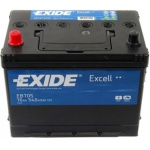 Аккумулятор EXIDE Excell EB705 70Ah 540A